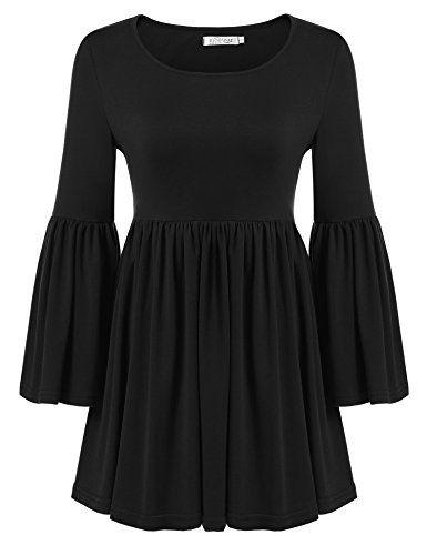 Meaneor Women Flare Sleeve Loose Tunic Shirt, Black, L Me... https://www.amazon.com/dp/B06XJ2PHQ4/ref=cm_sw_r_pi_dp_x_9tsdzbPNR93SE