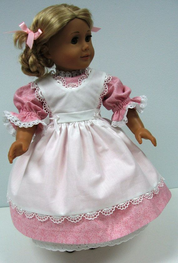 American Girl Kirsten\'s Pink Party Dress with Apron Petticoat and ...