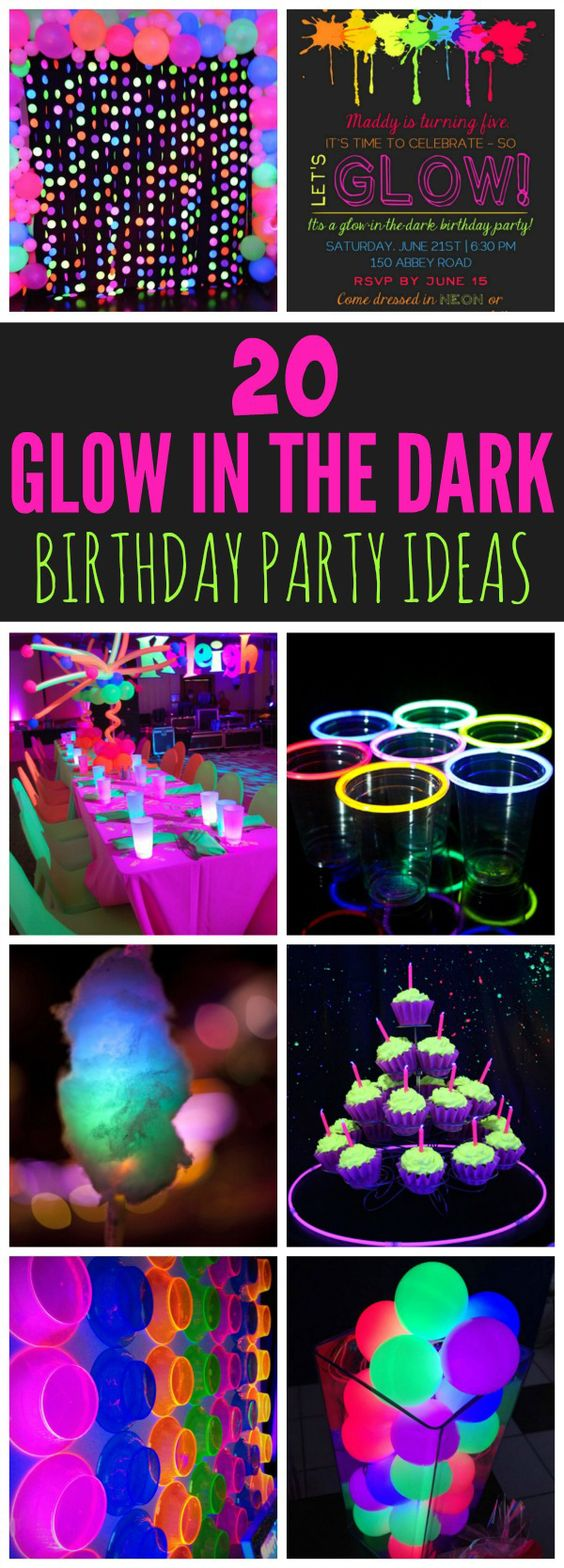 20 Epic Glow In The Dark Party Ideas – Pretty My Party – Party Ideas