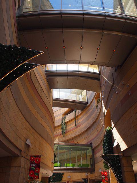 Artificial canyon - Nanba Parks Building, Osaka