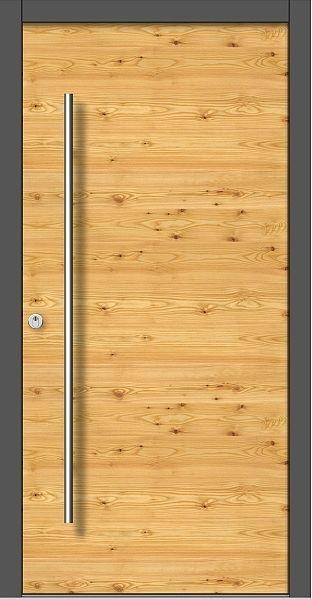 Holz Haustür Modern Modell M101 Holzart Lärche Astig Querfurniert