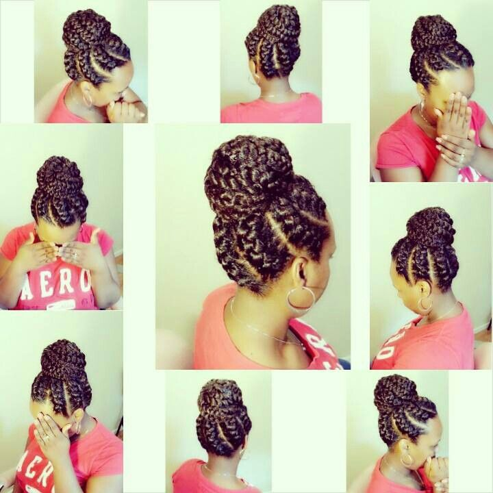 Crochet Braids Bun : crochet braids black hair goddess braids natural hair braids braids ...