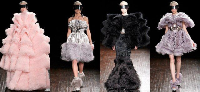 Fall 2012 collections of Alexander McQueen