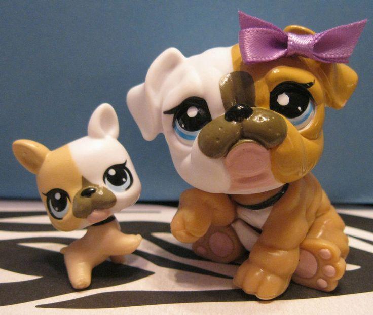 Mommy Baby Bulldogs Howsweet Socute Cuteee Littlestpetshop