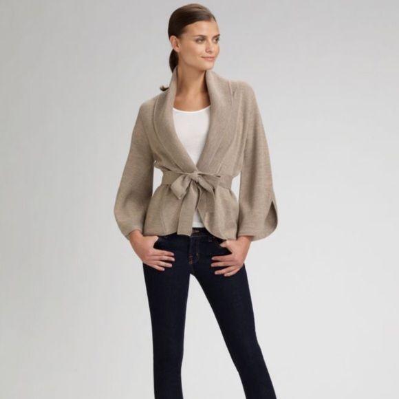 BCBGMaxAzria Nel Shawl Collar Belted Cardigan | Belted cardigan ...