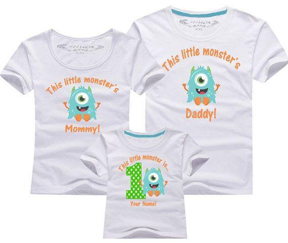 1st Birthday Monster Birthday Shirt Matching By Btbfashion On Etsy Boys 1st Birthday Party Ideas Monster Birthday Little Monster Birthday