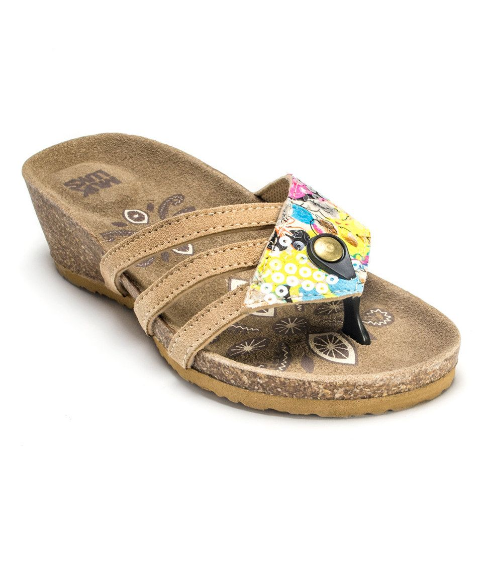 f481c398209 Love this Yellow Rose Terra Turf Wedge Sandal by MUK LUKS on  zulily!   zulilyfinds