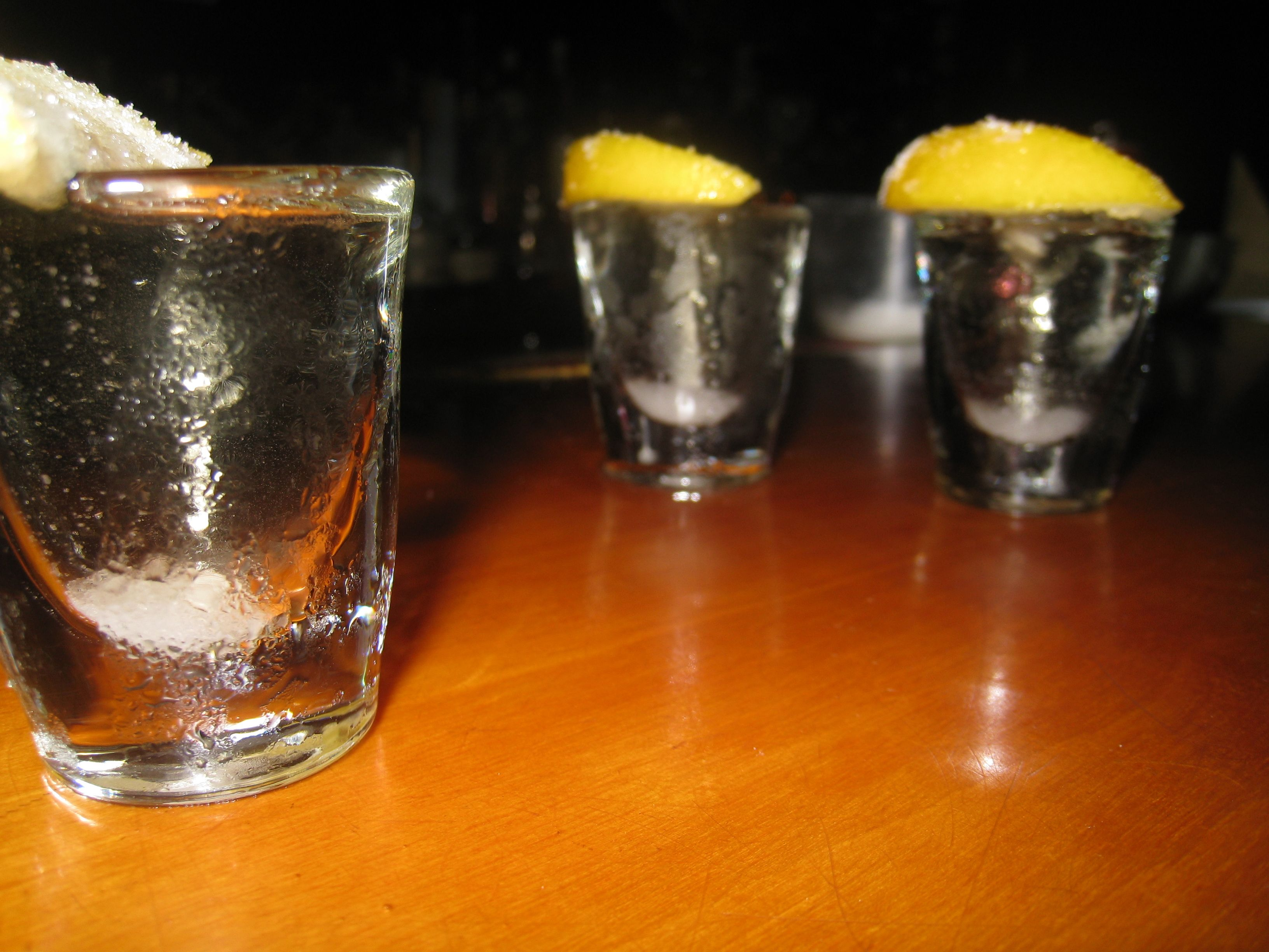 Chocolate Cake Shooters equal parts Citrine vodka and Frangelico