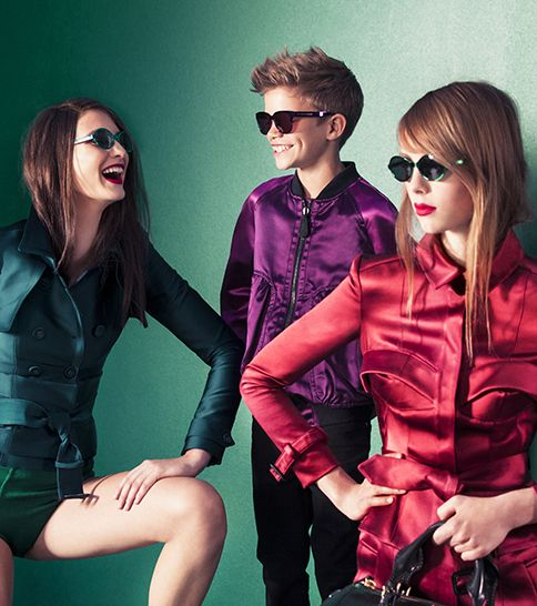 4aff89baa75f Charlotte Wiggins, Romeo Beckham and Edie Campbell wearing Splash Sunglasses  on the set of the Burberry Spring/Summer 2013 campaign