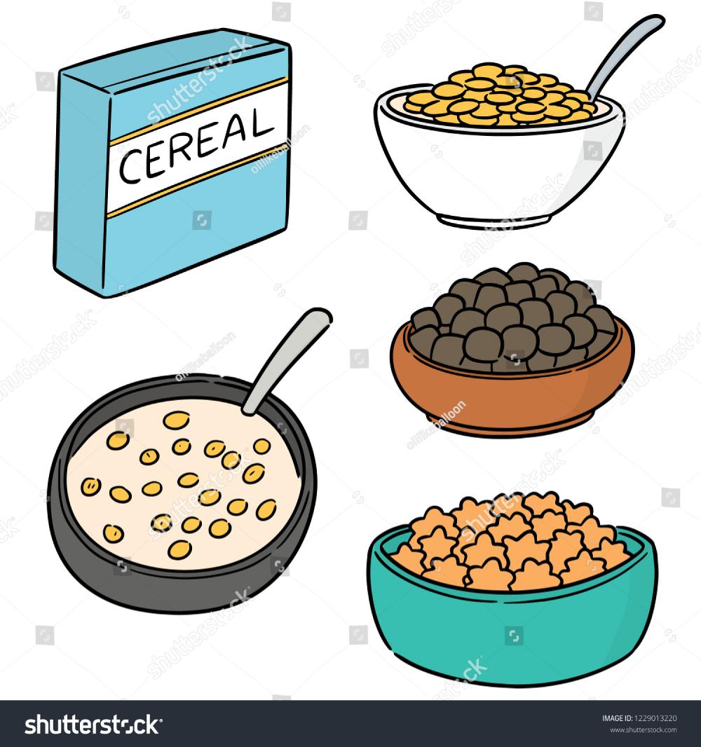 Vector Set Cereal Stock Vector Royalty Free 1229013220 In 2020 Cute Food Drawings Food Drawing Cute Patterns Wallpaper