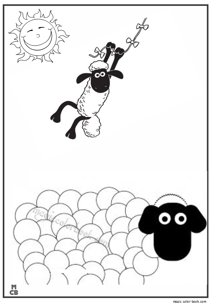 Pin de Magic Color Book en Shaun and the sheep Coloring pages free ...