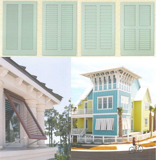 No better design than Bahamian or Bermuda Shutters! Beach Cottage love!