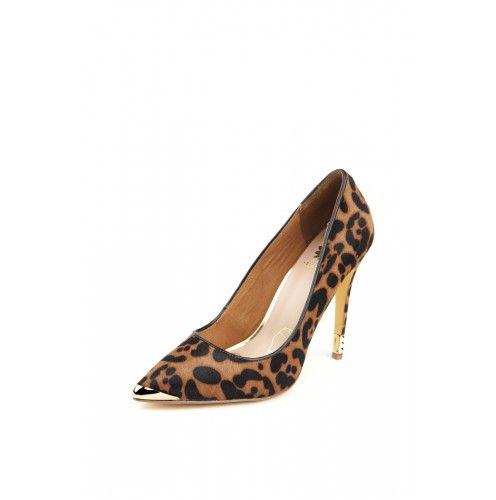 Emelda Heel in Cheetah ~ www.yellowboxshoes.com