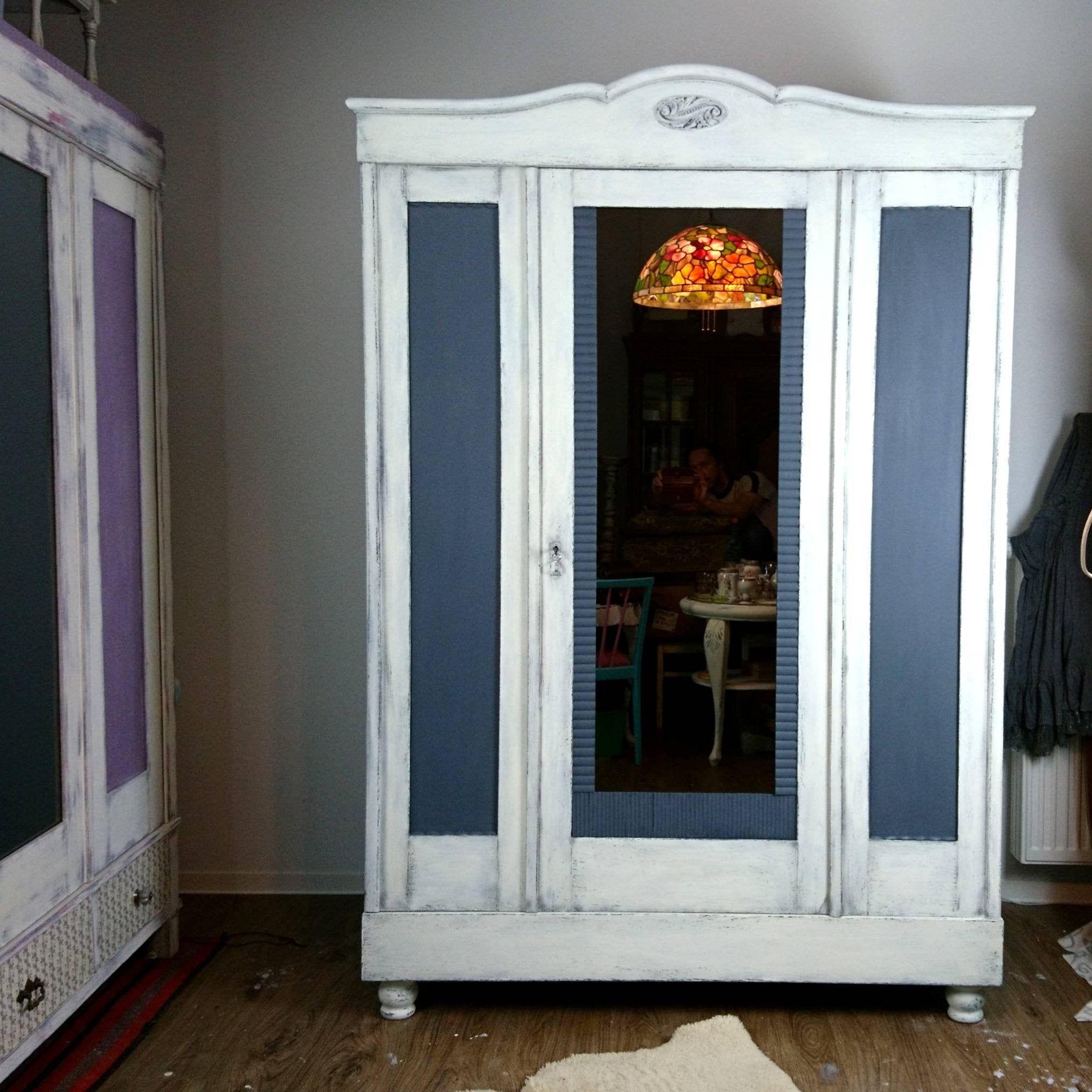 Shabby Chic Landhouse Romantic Closet Shelf Vintage Antique