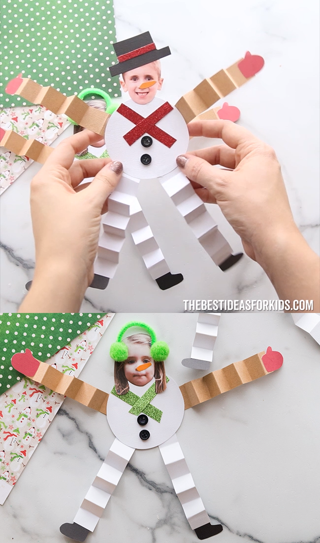 PAPER SNOWMAN CRAFT ☃️ – Kids