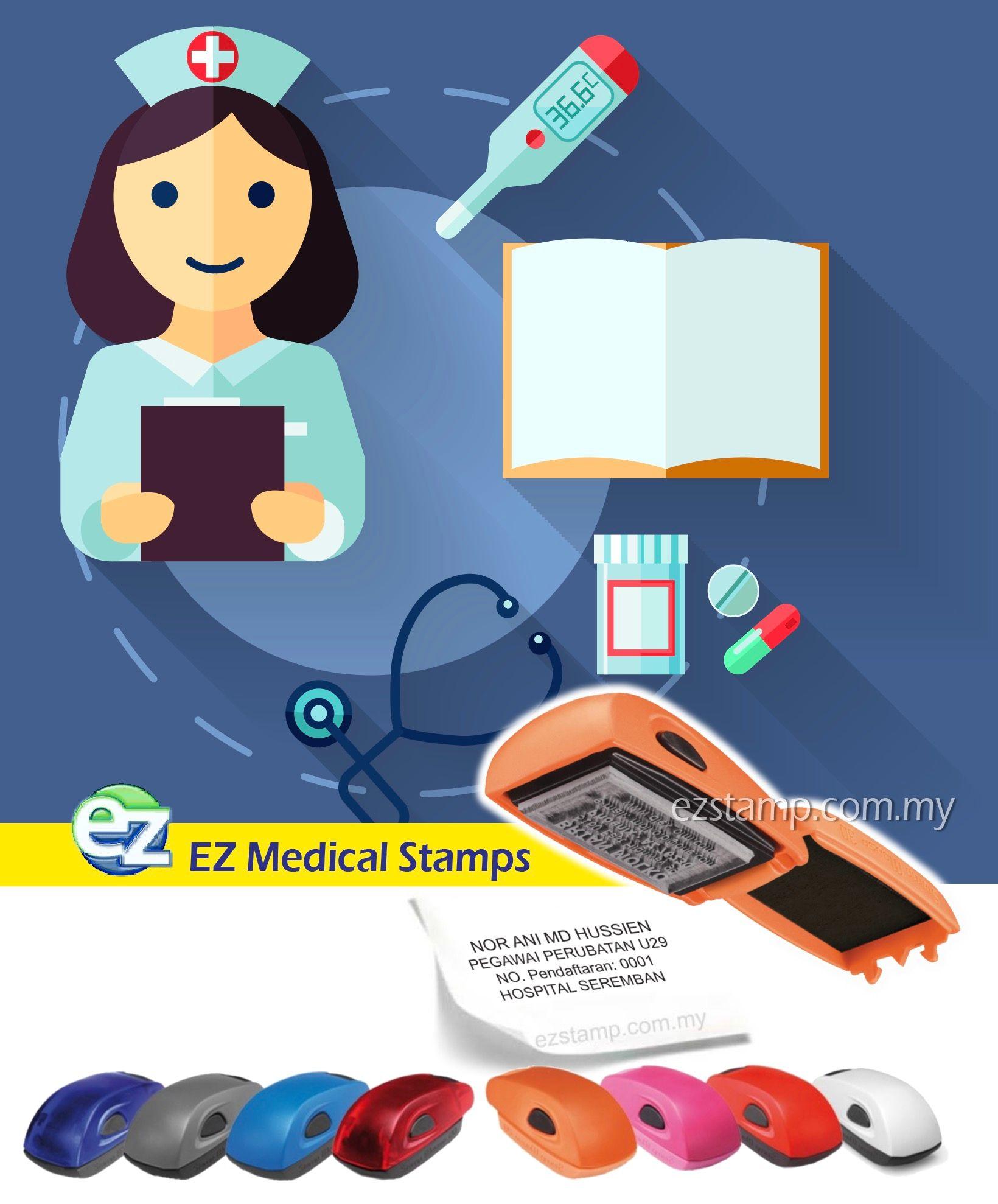 Ez Mouse Stamp Utk Pegawai Perubatan Nurses Doctor Di Malaysia Kami Ada Pelbagai Model Design Utk Dipilih Sila Klik Li Hospital Self Inking Stamps Nurse