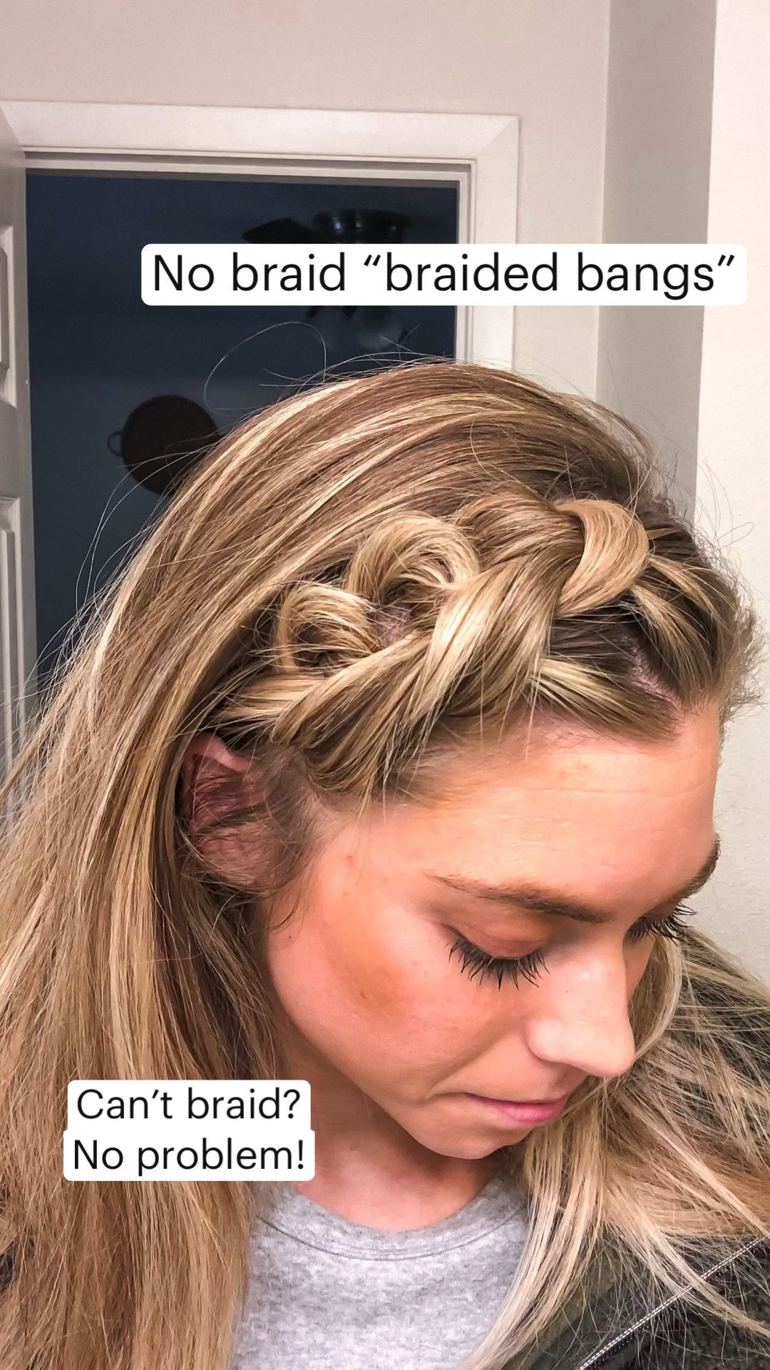 Braided Hairstyles For Medium Hair With Bangs