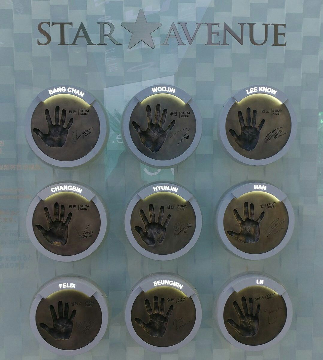 Stray Kids Hand Prints At Star Avenue At Myeongdong Lotte Department Store Felix Stray Kids Stray Avenue Of Stars