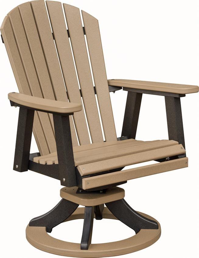 Berlin Gardens Comfo Back Swivel Rocker Poly Dining Chair Swivel Rocker Chair Outdoor Chairs Poly Outdoor Furniture High back swivel rocker patio chairs