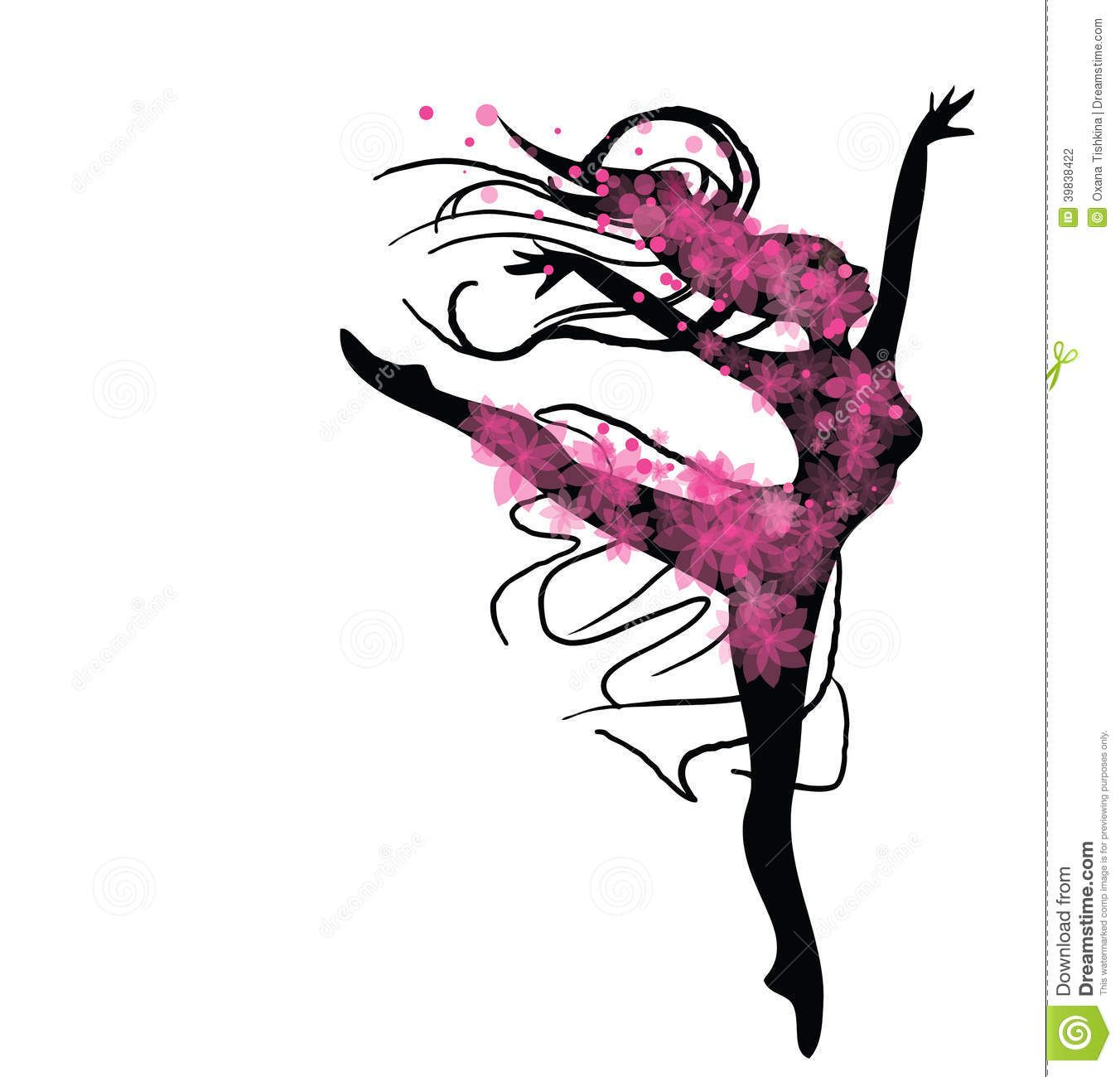 dancing-woman-black-pink-colours-vector-graphic-image ...