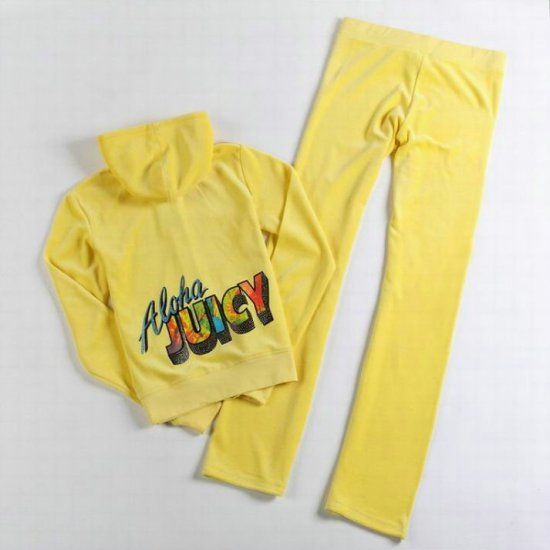 Juicy Couture Aloha Juicy Velour Tracksuit Yellow Juicy Couture Tracksuit Couture Outfits Juicy Tracksuit