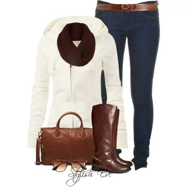 white with riding boots