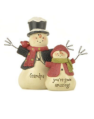 Grandpa You're Snow Amazing Snowmen 4 inch Resin Stone Christmas Figurine
