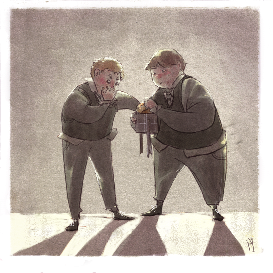 Crabbe And Goyle By Eirwen Illustration Goyle Harry Potter Harry Potter Characters Fantastic Beasts Series