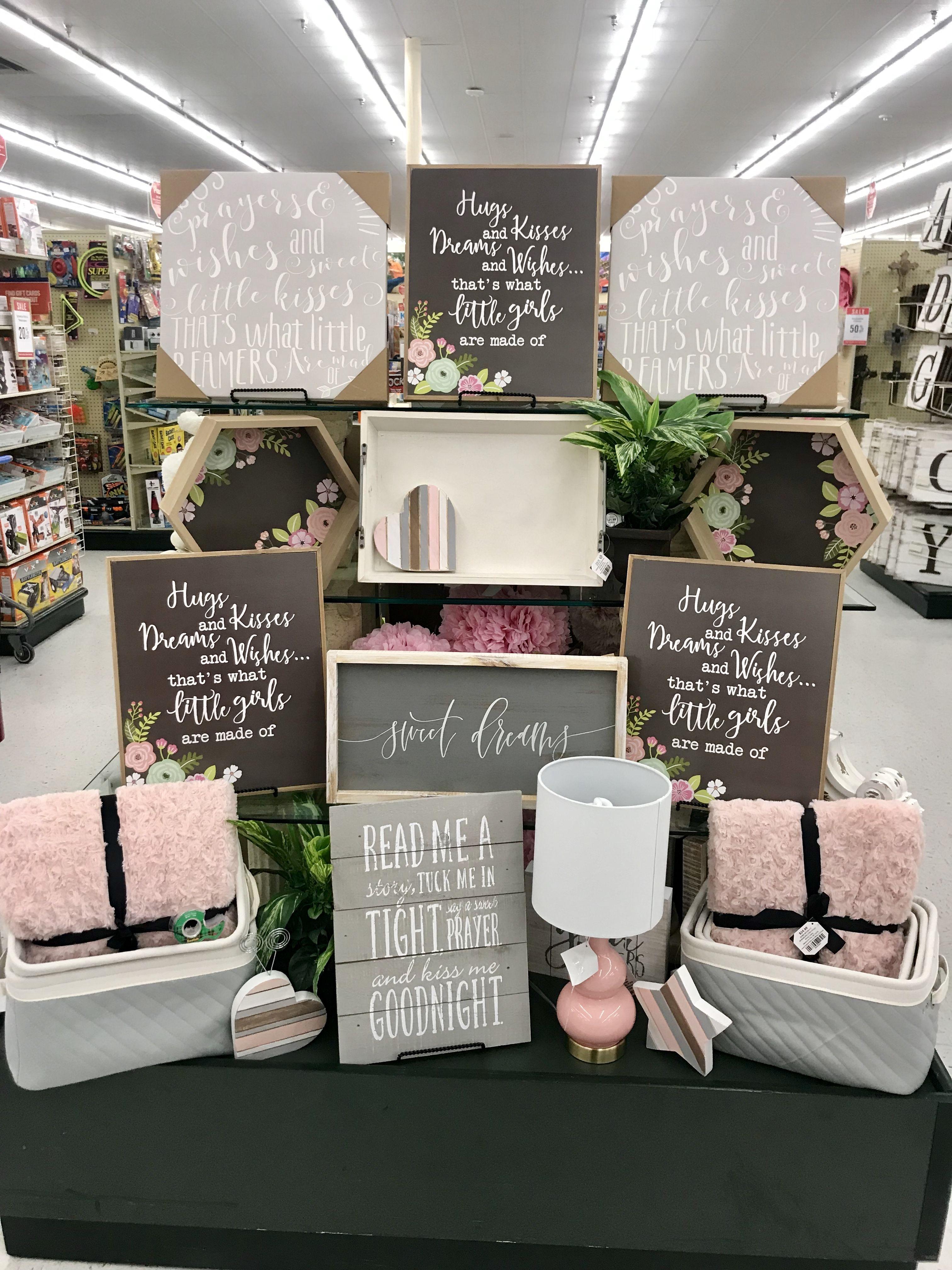 Hobby lobby merchandising table displays work | Girl room ...