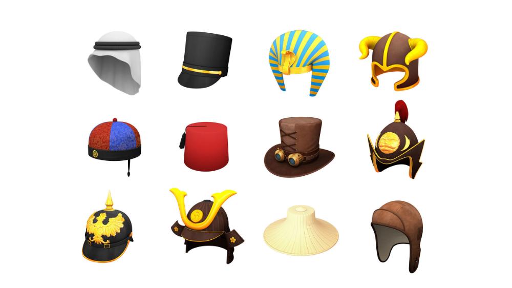 Hats And Helmets Pack 7 3d Model 3d Model Character Cartoon Styles Samurai Helmet