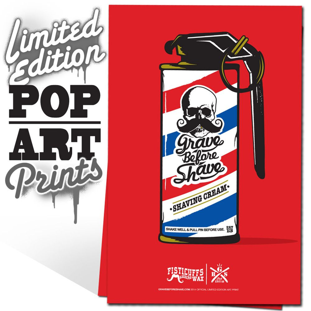 Fisticuffs/GRAVE BEFORE SHAVE Pop art print