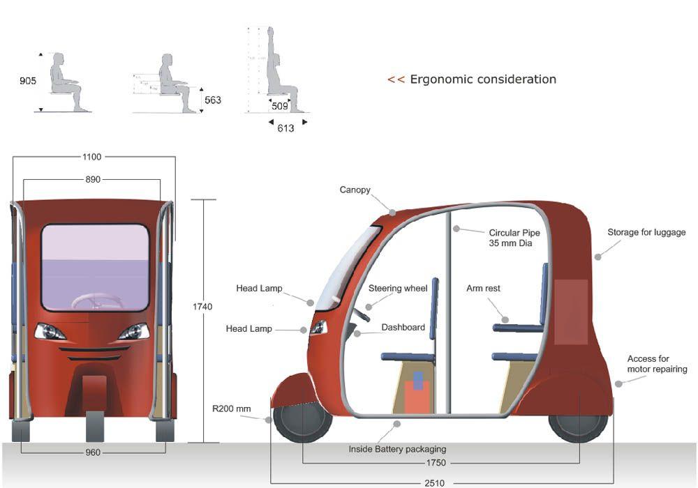 Auto Rickshaw Dimensions Google Search Electric Bike Ebike