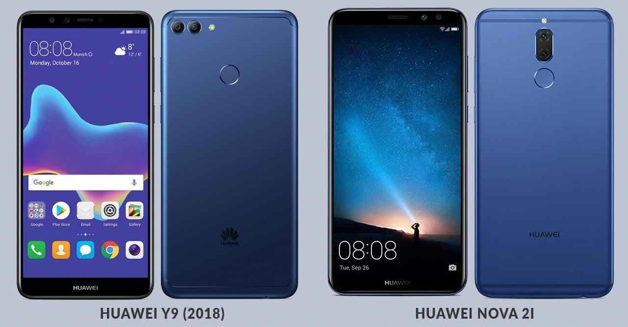 Huawei Y9 (2018) vs Huawei Nova 2i: Quad-camera phone
