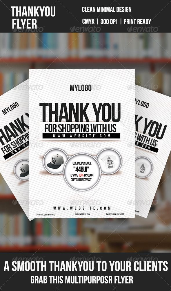 Thank You Minimal Flyer Minimal, Flyer template and Creative flyers - discount flyer template