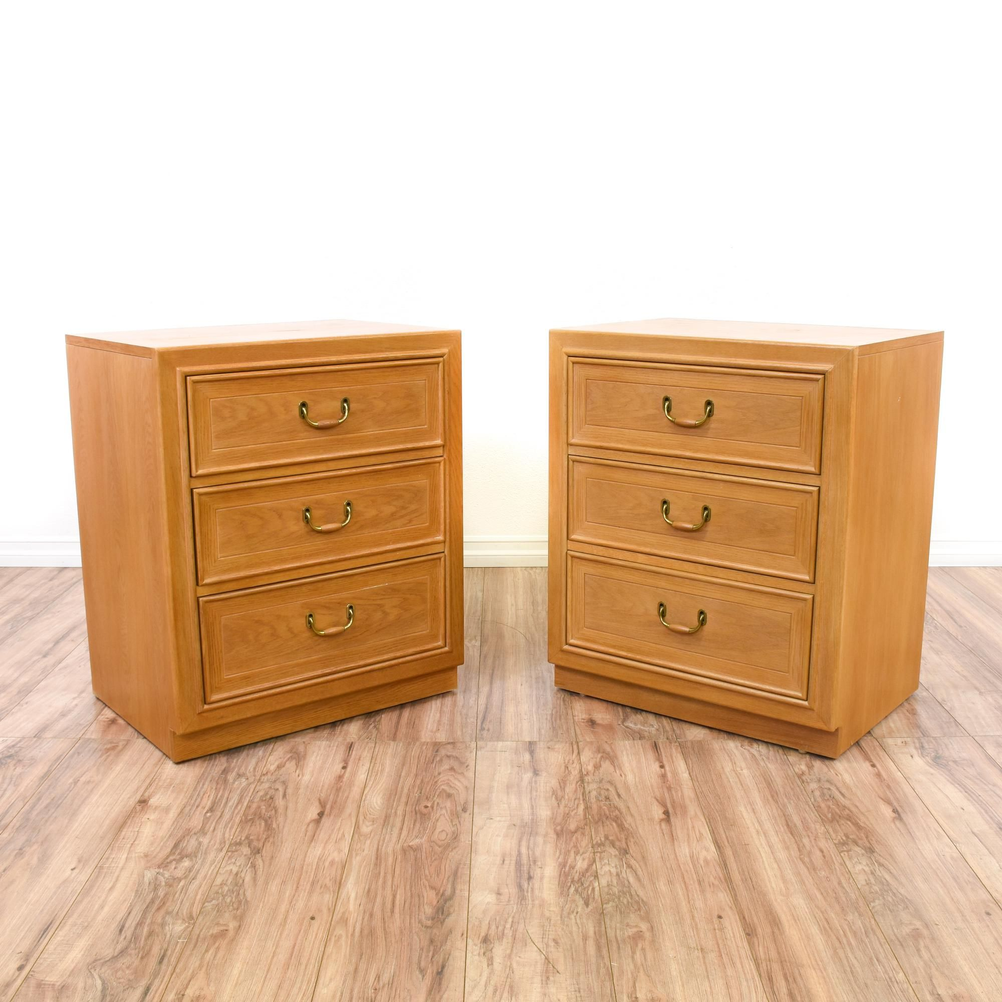 These nightstands are featured in a solid