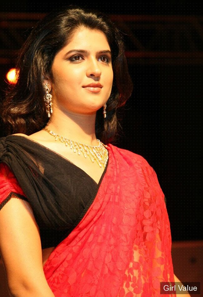 deeksha seth looking hot in red saree
