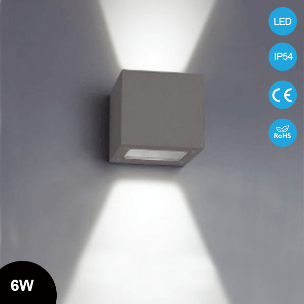 Ip54 Cube 6w Surface Mounted Outdoor Led Lighting Led Outdoor Wall Light Square Up Down Led Wall Lam Led Outdoor Wall Lights Led Wall Lamp Led Outdoor Lighting