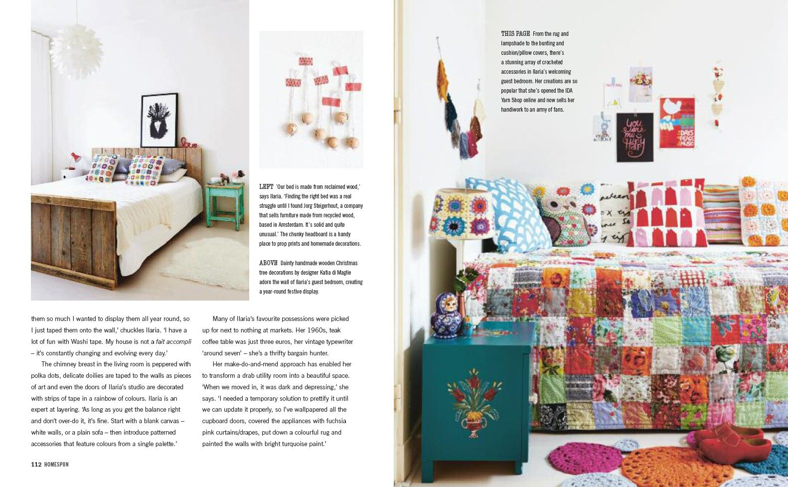 "camp cirrus cushions HAVET aqua and HUS red in new book ""design bloggers at home"" by ellie tennant. home of ilaria chiaratti bonomi / ida lifestyle."