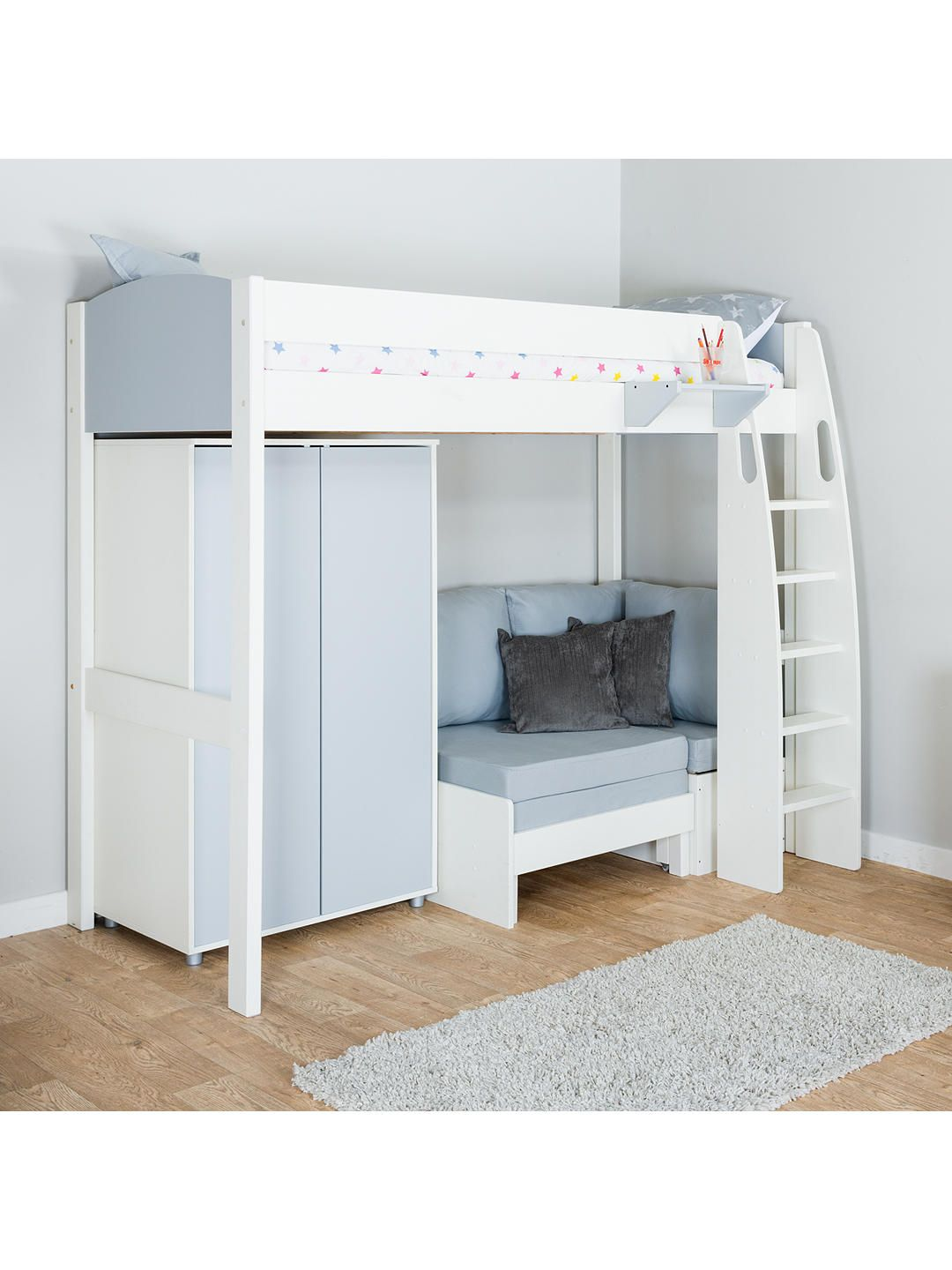 Magnificent Stompa Uno S Plus High Sleeper Bed With Wardrobe And Chair Theyellowbook Wood Chair Design Ideas Theyellowbookinfo