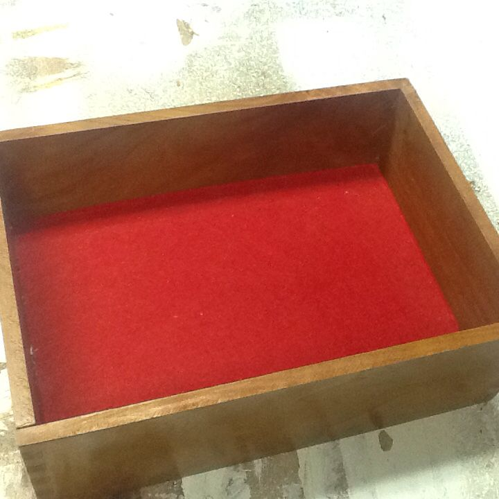 Inside of solid cherry box I just finished.