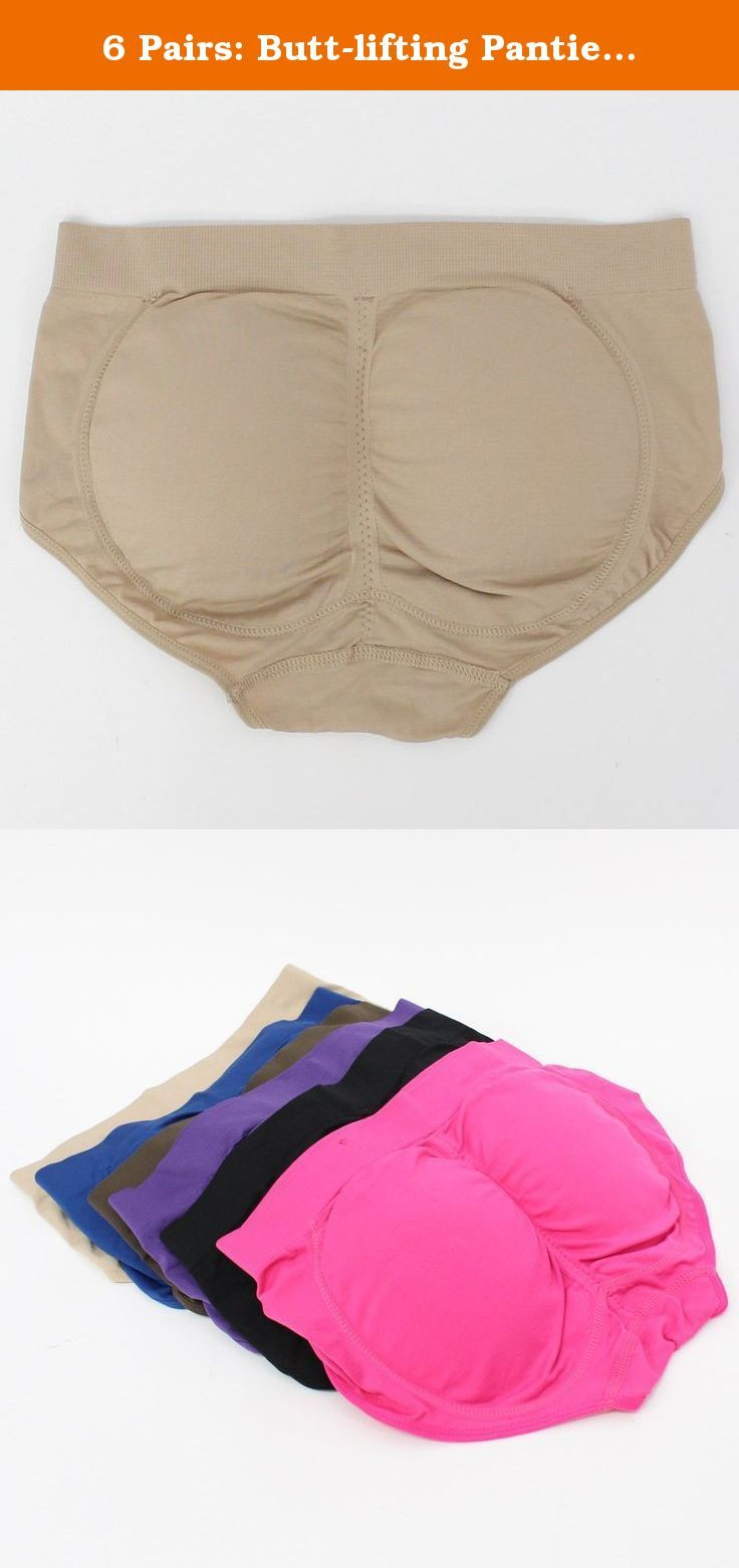 6 Pairs Butt-lifting Panties