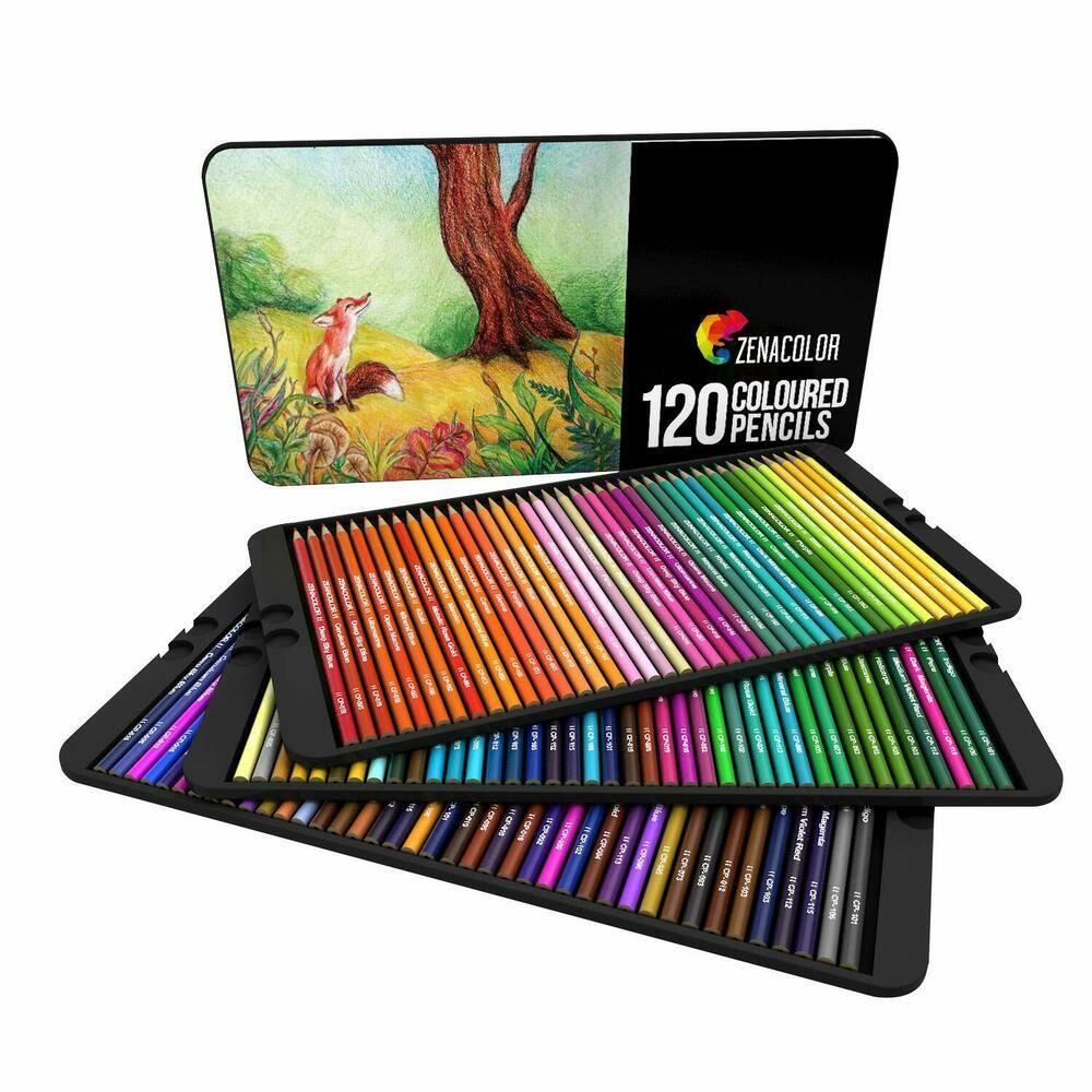 Details Sur 120 Crayons Couleurs Numerotes Uniques Differentes