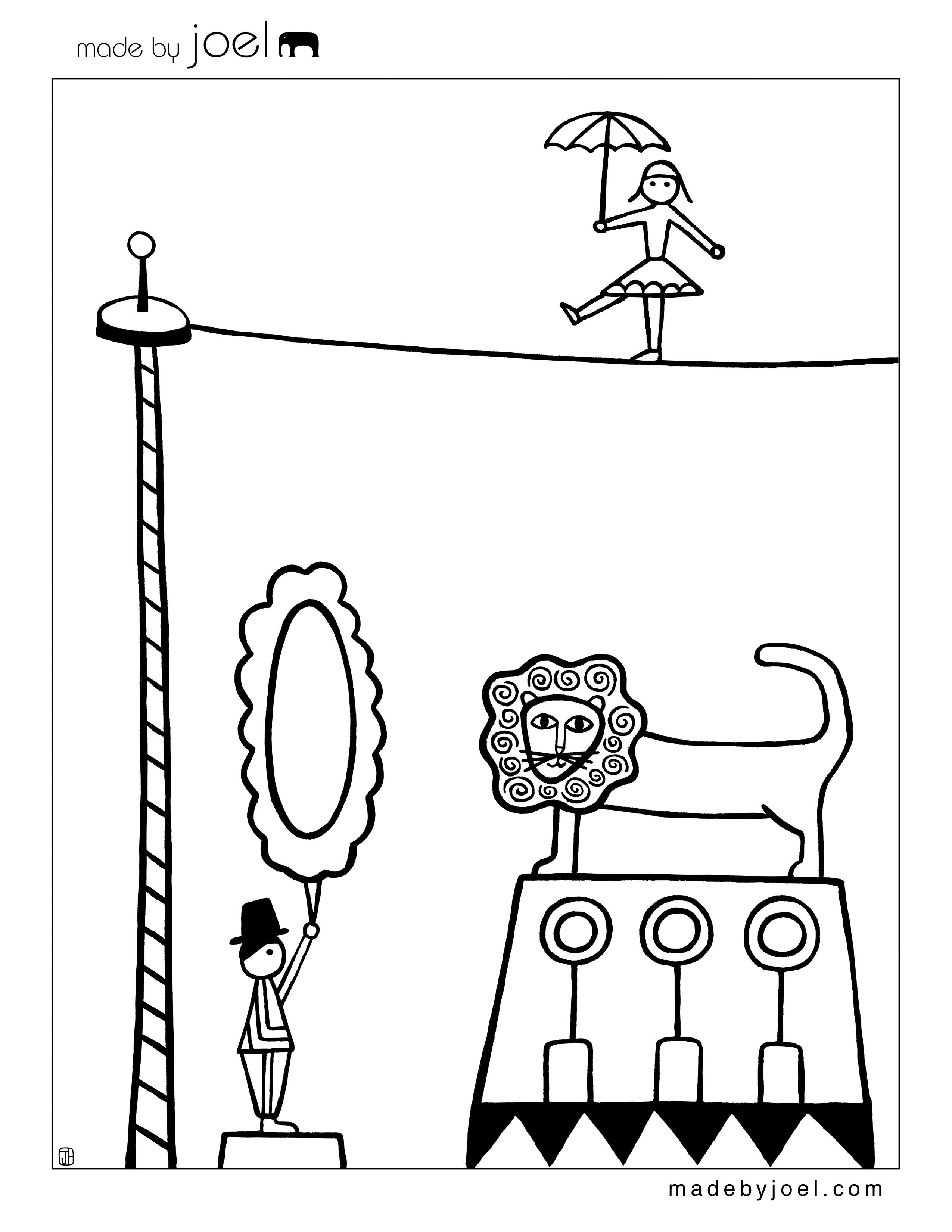 Made by Joel » New Circus Coloring Sheets! | PROYECTO EL CIRCO ...