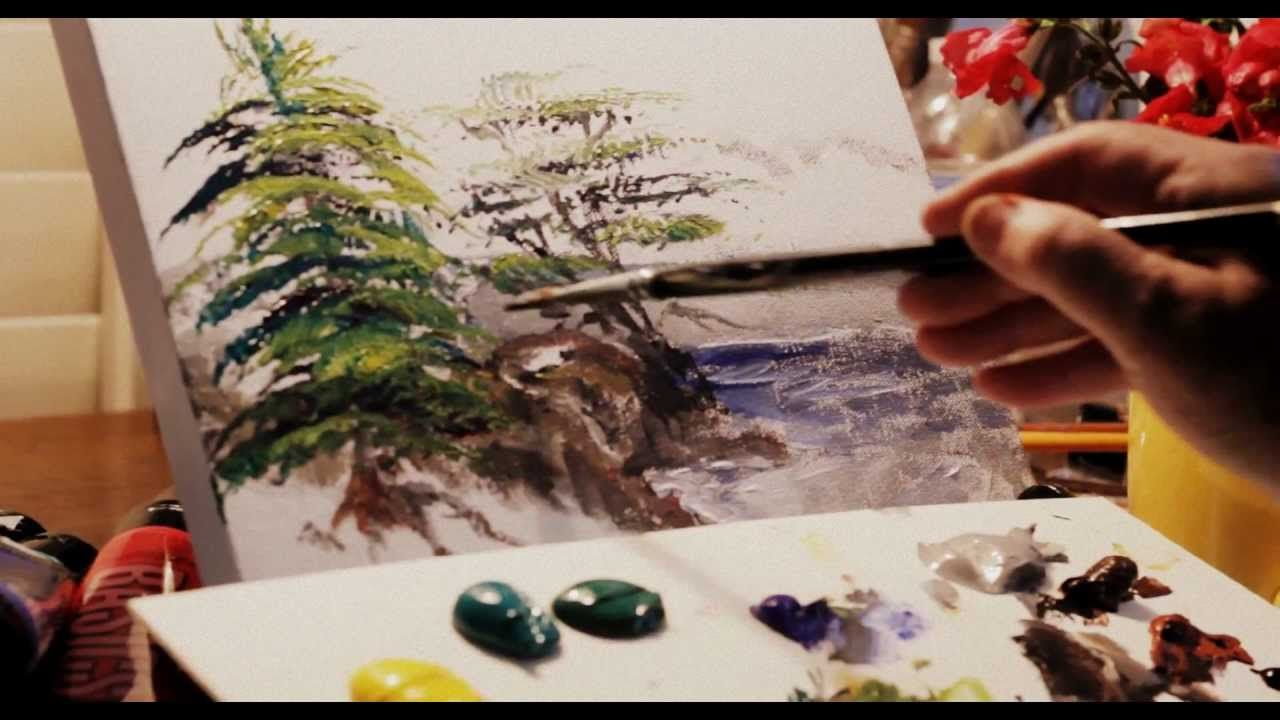 How To Paint Trees Four KindsPineCypressPalmBirch Watercolor TutorialsWatercolor