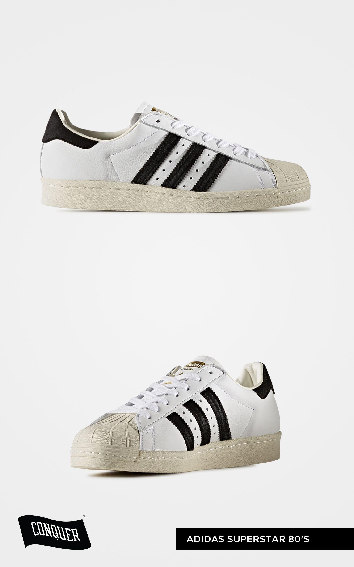 7b5eb3fc Adidas Superstar 80's Running White Ftw / Black / Metallic Gold BB2231 AED  475 Visit: www.weconquer.me