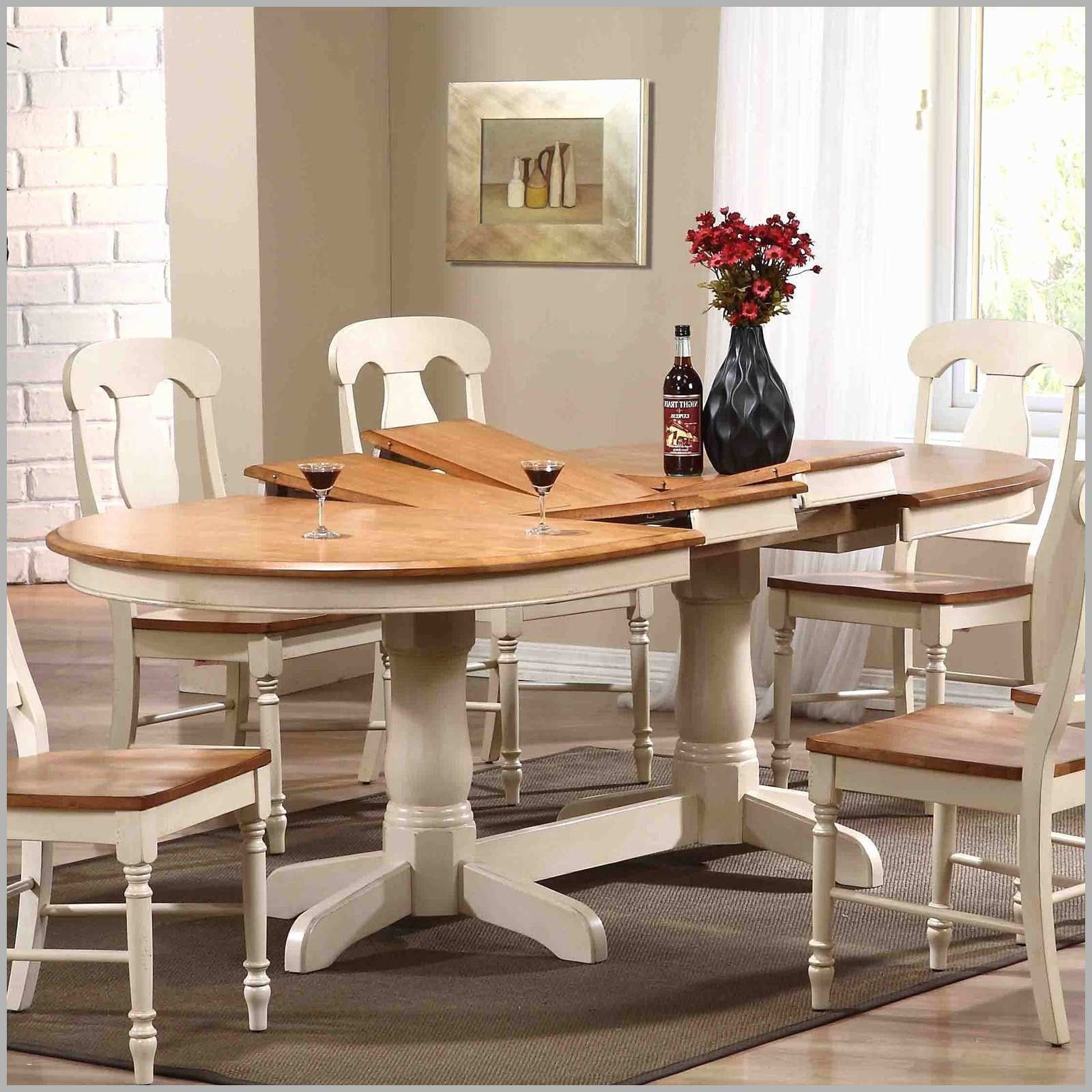 New Oval Farmhouse Kitchen Table With Extension Furniture Biscotti