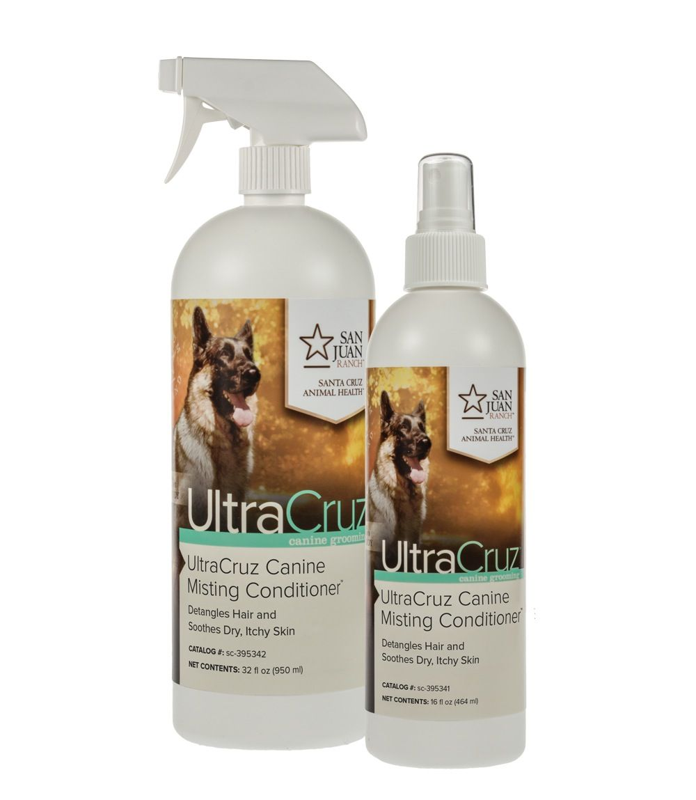 UltraCruz® Canine Misting Conditioner - Natural dog leave-in or rinse-out conditioner to nourish and moisturize hair for a healthy shine.