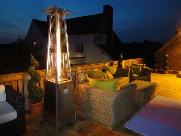 Standing Tall And Handsome This Designer Athena Plus 304 Stainless Steel Flame Gas Patio Heater