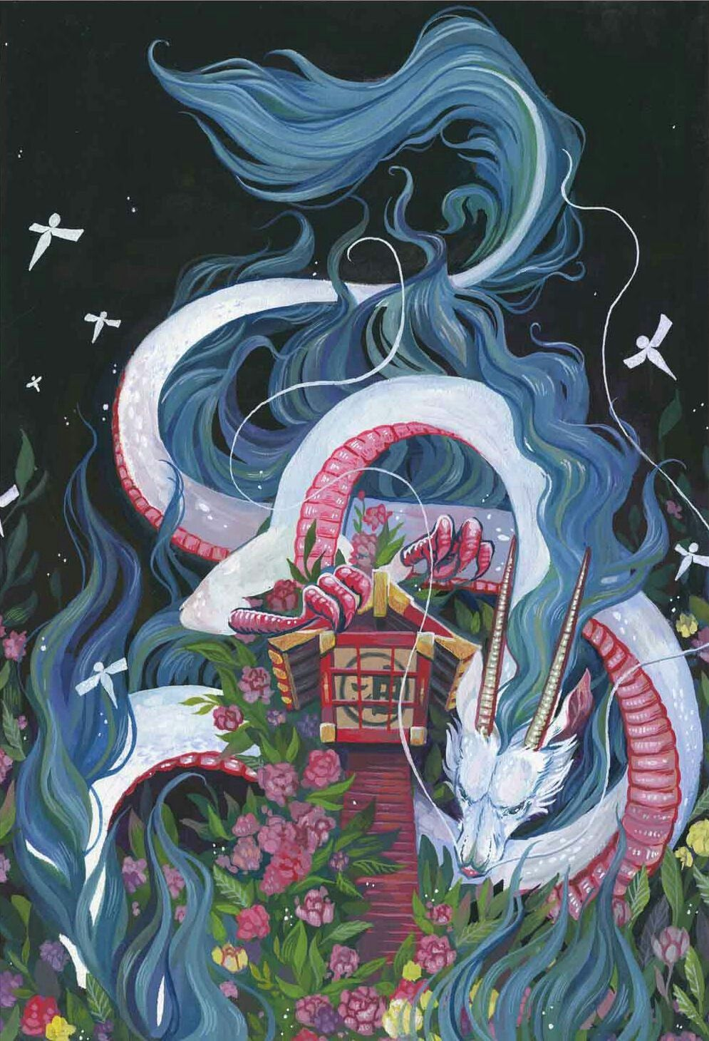 Spirited Away Dragon Haku Art Art Prints Studio Ghibli Art