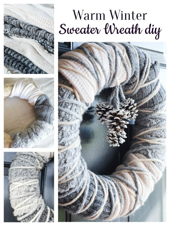 Photo of WARM WINTER SWEATER WREATH – StoneGable